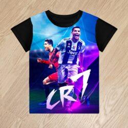 Футболка Рональдо Ronaldo cr7 для мальчиков 6 лет 7 лет 8 лет 9 лет 10 лет 11 лет 12 лет 13 лет 14 лет