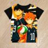 Футболка  волейбольная команда Haikyuu!! для мальчиков 6 лет 7 лет 8 лет 9 лет 10 лет 11 лет 12 лет 13 лет 14 лет