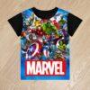Футболка Marvel супергерои для мальчиков 6 лет 7 лет 8 лет 9 лет 10 лет 11 лет 12 лет 13 лет 14 лет